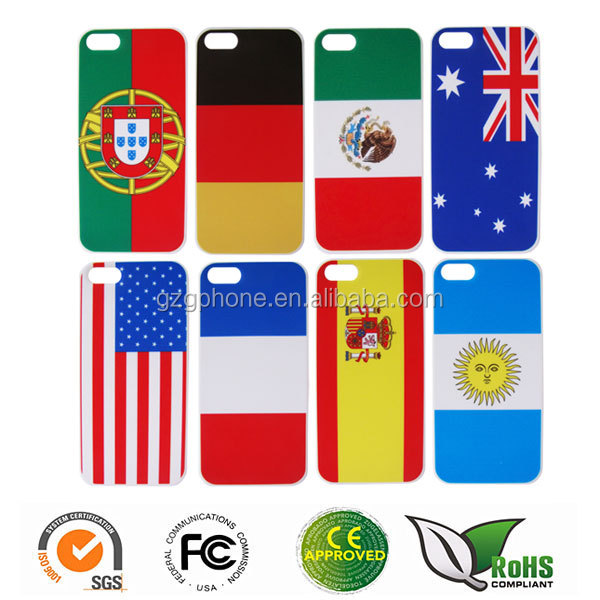 Custom printing phone case for iphone5 for 2014 the Brazil World Cup theme