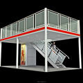 Detian offer Double deck exhibition stand fair booth pavillion trade show display booth