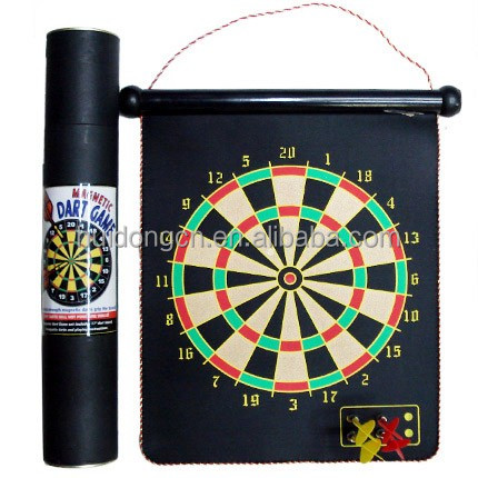 Wholesale Professional 13 Inch Dart Board Magnetic Dartboards, custom Double-side Safety Magnet Dartboard With 6 Magnetic Darts