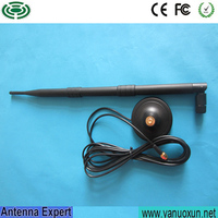 2.4G WIFI 9DBI Antenna,9DBI Gain WIFI Booster ,Wireless Lan Long RP-SMA Antenna with stand