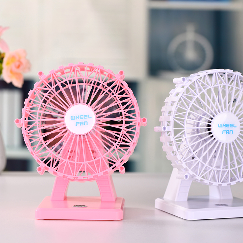 Wholesale Electric Dual Motor Double Blade Desk Portable USB Rechargeable Mini Battery Operated Mini Fan price