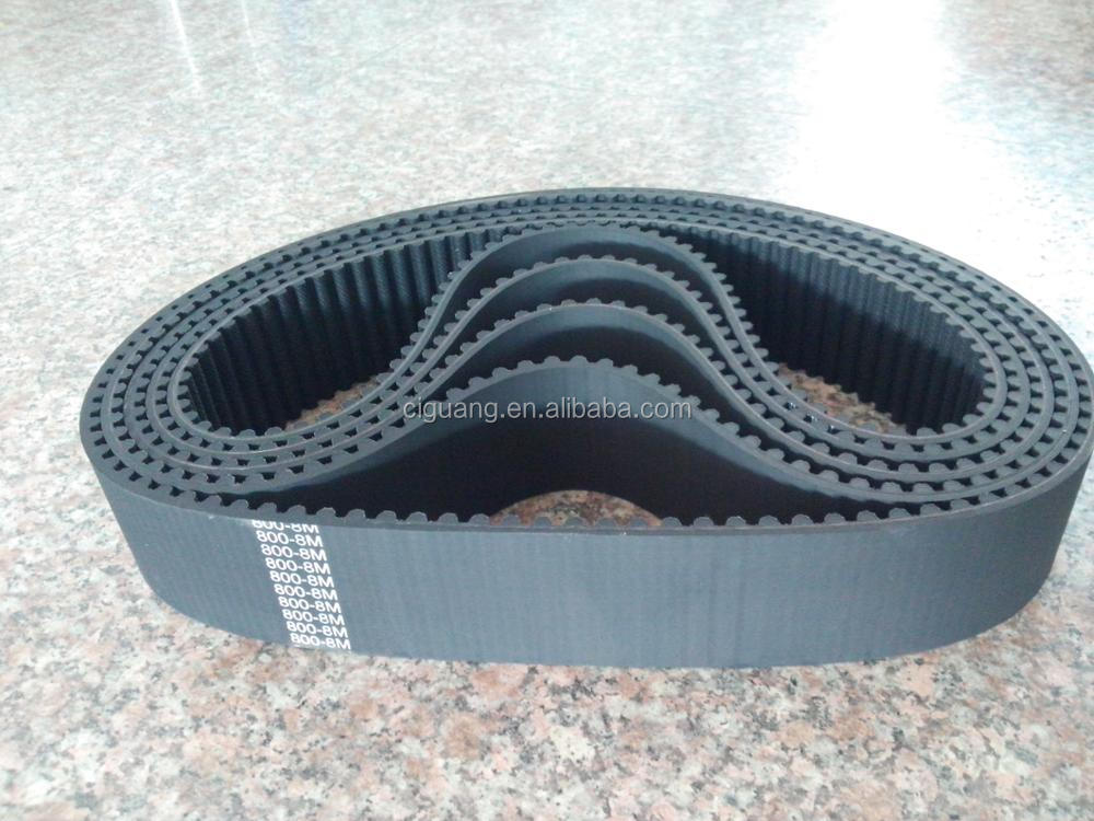 high quality rubber 8M timing belt china manufacture
