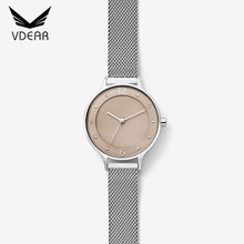30mm size small wrist crystal index 3 atm stainless steel back 2035 quartz watch fashion women watches 2017