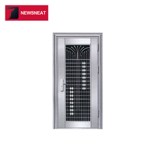 Security best price fancy design stainless steel entry doors arch top