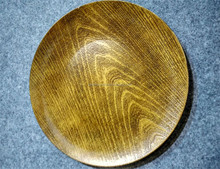 Plastic new design wedding Faux Wood Charger Plate