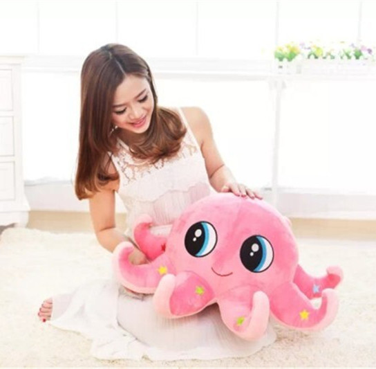 soft cheap cute big colorful octopus shaped plush toy for gift
