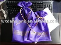 satin bag, various color & size, ribbon drawstring