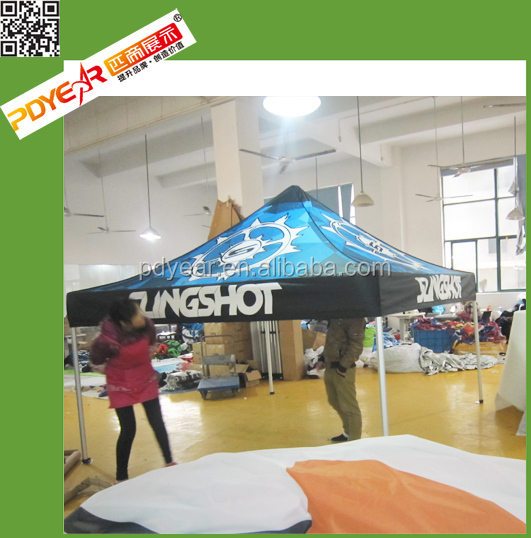 Pop up tent with roof printing