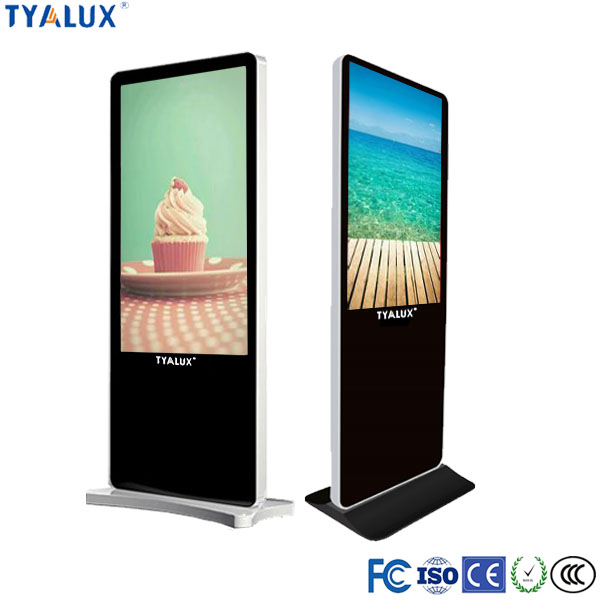 49 Inch Free Standing Interactive Kiosk Touch Table Restaurant