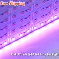 Non-Waterproof Rigid Led Strip Lights SMD5630 72 Leds DC12V Wholesale Market Pink Rigid Led Strip Bar Light