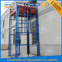 Hydraulic guide rail chain electric lift with CE