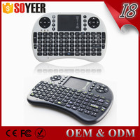 Soyeer top sale 92 keys i8 2.4g wireless keyboard touchpad for PC Android TV Box-Arabic