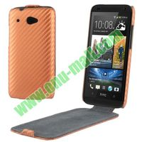 Carbon Fiber Pattern Leather Case cover for htc desire 601 Zara 619D