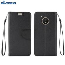 alibaba china phone case supplier leather flip beautiful phone mobile back cover for MOT E4