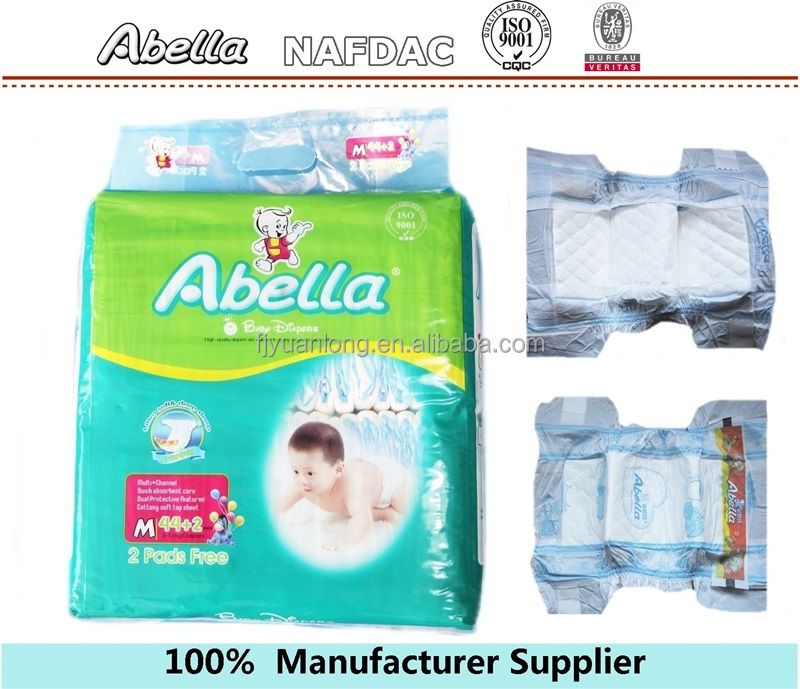 2016 China Top Selling Baby Products Quanzhou Factory Wholesale Price Abella Baby Diapers