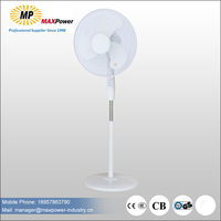 2017newest style l 16inch electric rechargeable Stand fan with cheapest price