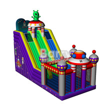 Factory direct CE Certificate christmas santa claus commercial bouncy castles with slide for sale