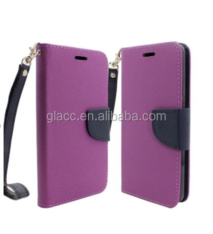 Wholesale premium leather case for lg stlus 2 ls775 flip case , wallet case for lg stylus 2