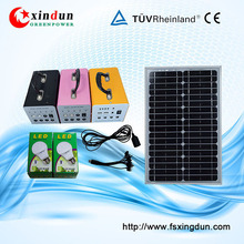 Popular DC home solar lighting/solar lighting products/30w/12v home solar system for home lighting and phone charging