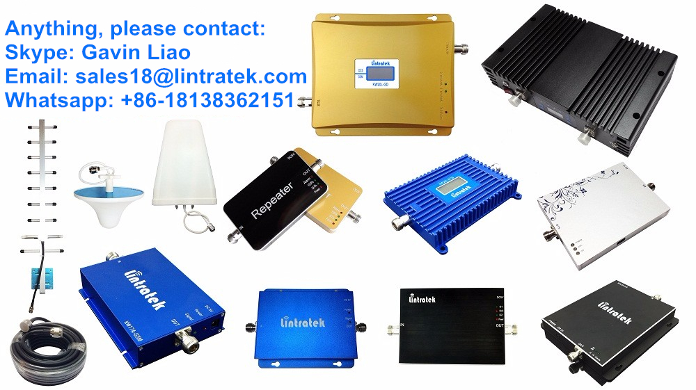 2017 NEW Lintratek Amplificateur GSM DCS Dual Band Signal Booster LCD 900MHz + 4G LTE 1800MHz Cell Phone Signal Amplifier