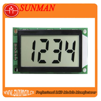 seven segment lcd display with outline size 73x36mm