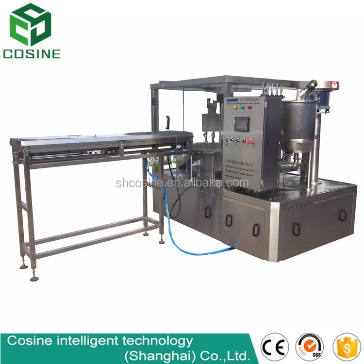 Milk pouch packing machine/fruit pouche packing drinks with spout at the top/mixing fruit drinks packing machine