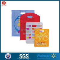 Custom Printed Die-Cut Plastic Retail Shopping Bags/ handle bag