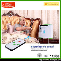 Hypoxia Elderly Patient Home Care <45dB Low Noise Portable Bedside Oxygen Concentrator For Sleep Well