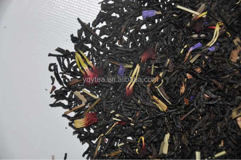 Lemon bergamot black tea, flavored tea, English breakfast tea