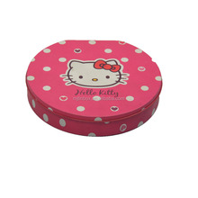 Hello kitty Tin Color Irregular D shaped Metal tin box for DIY Craft Pack