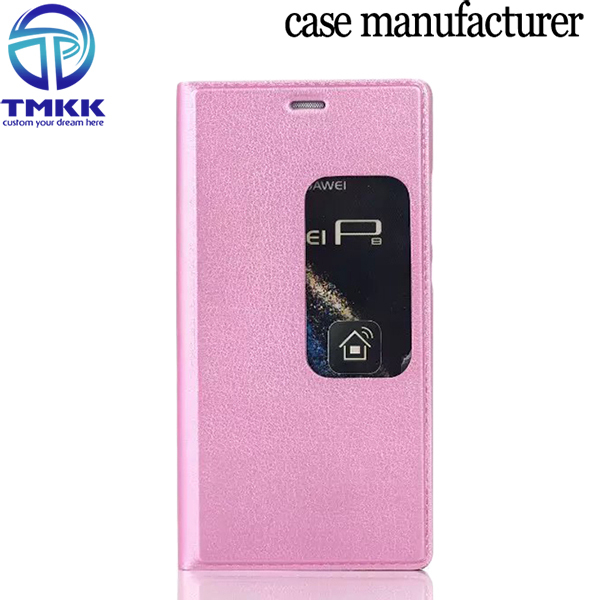 Smart leather flip case for Huawei P8 mobile phone case