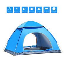 PayPal Accepted!! wholesale permanent pop up camping tent double-deck oxford 3 person cabin tent