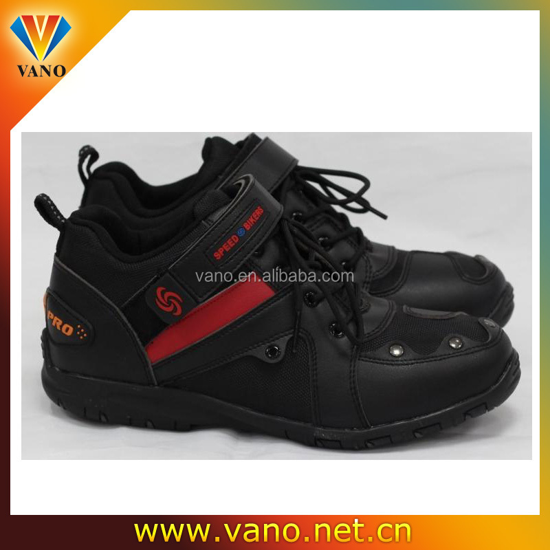 Hot sell cheap price rubber sole nice motorcycle racing boots A006