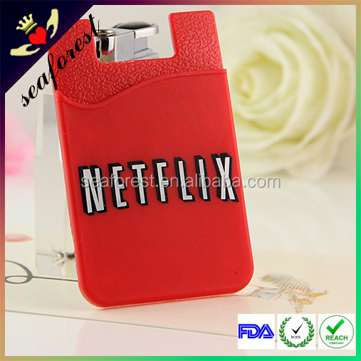 2016 new Cheap 3M Sticker Silicone Smart Wallet,Mobile Phone Silicone Card Holder