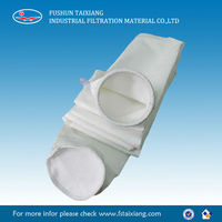 polyester filter bag for metallurgy of iron and steel ore sintering process