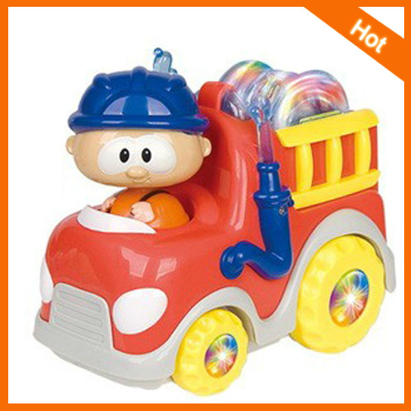 2013 Hot selling B/O cartoon fire car