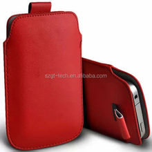 Pull Tab PU Leather Pouch Cover Case Sleeve Mobile Phone Case for iPhone 6 /6 plus/S5