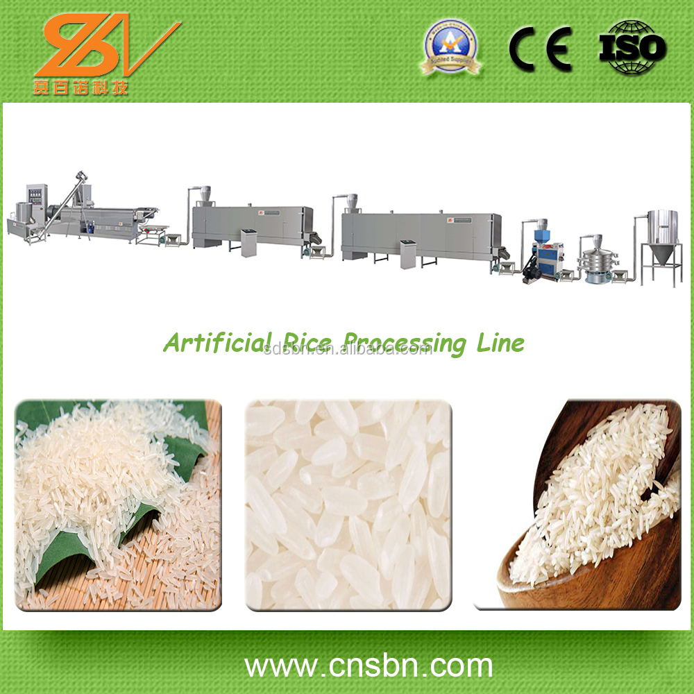 Full Automatic 150kg/h,250kg/h,600kg/h Extruded Rice Making Machine/Artifical Rice Line