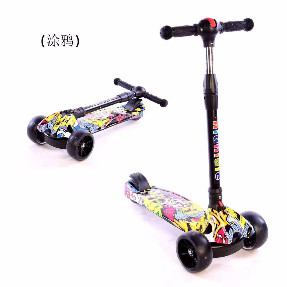 High Quality Folding three Children Kick Scooters Wholesale Kids Scooters with light