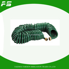 50Ft EVA Coiled Garden Hose With Functional Trigger Spray Gun