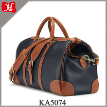 2017 New Top Grain Leather Travel Duffel Bag Men Stylish Leather Holdall