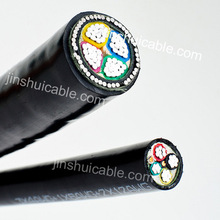 PVC/XLPE insulation copper conductor armoured cable 4 core 25mm