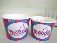 Frozen yogurt cup with dome lid logo printed