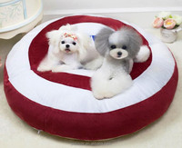 Round pet beds dog bed with super soft fabric