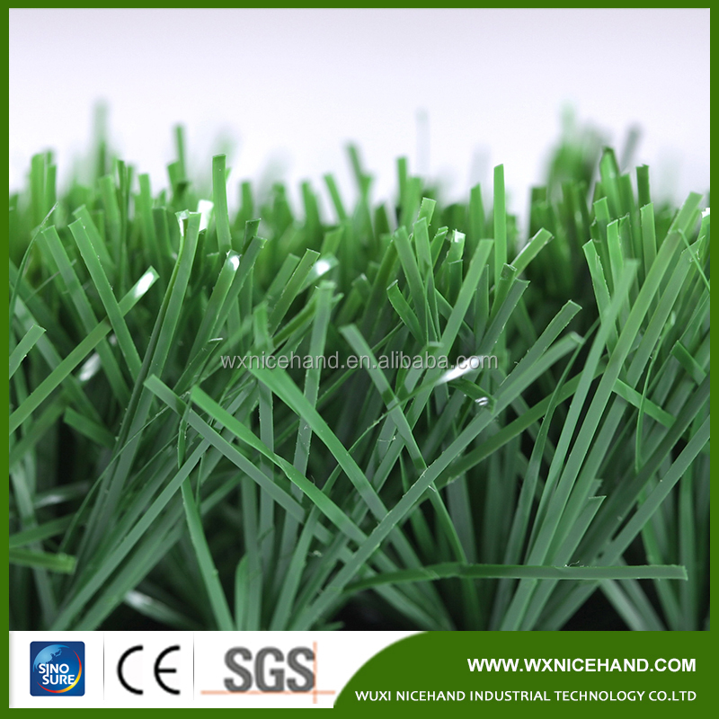 60mm Height Wheat Color Artificial Grass For Football Pitches