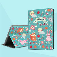 city&case Colorful Printing Design Rotating Stand PU Leather Case For iPad Mini Case