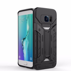 New Design Card Holder TPU+PC Shockproof Kickstand Armor Case For Samsung Galaxy S7 /S7 edge