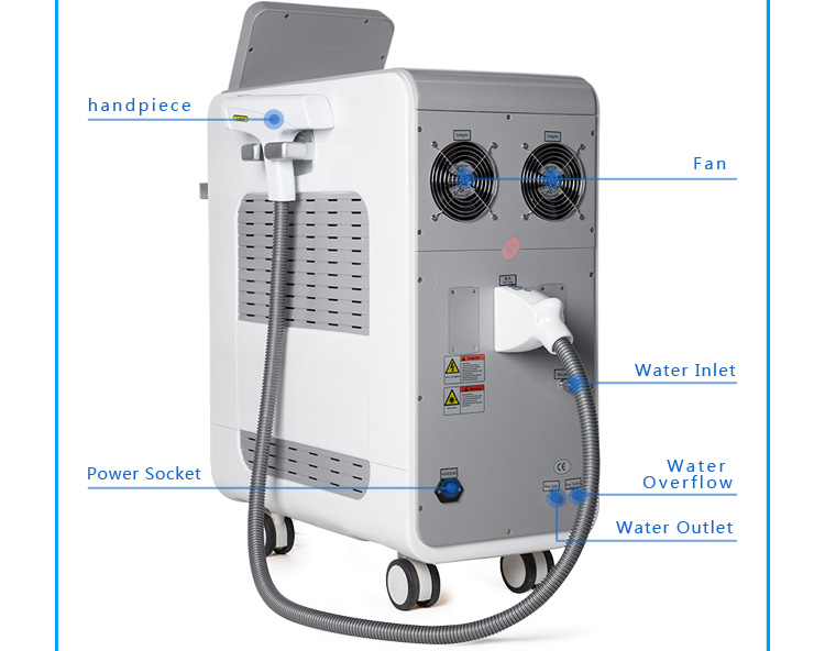 800W 1064 Nm 532Nm Q Switch Nd Yag Laser Beayty Machine
