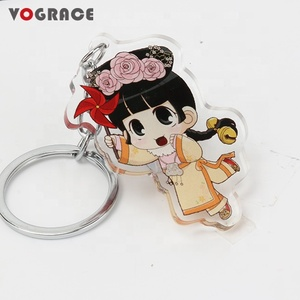 Promotional Cute Anime Printed Acrylic Charms Style Key Chain