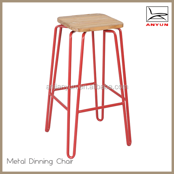 Cheap stackable square vintage metal bar stool for sale